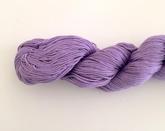 Purple Cotton Yarn DK weight, Egyptian cotton yarn, cotton yarn, knitting yarn, crochet yarn, craft yarn, purple yarn, cotton