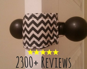 Charcoal Chevron Door Silencer, Door Jammer, Nursery Door Silencer, Door cushion, Door latch cover, baby shower gift, PATENTED LATCHY CATCHY