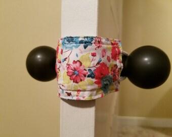 Naptime & Roses Door Silencer, Door Jammer, Nursery Door Silencer, Door cushion, Door latch cover, baby shower gift, PATENTED LATCHY CATCHY