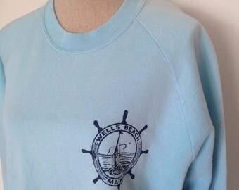Vintage Wells Beach Ogunquit Maine Sweatshirt