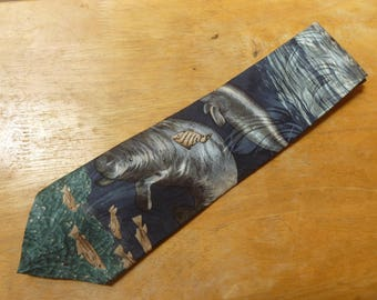 Manatee Sea Cow necktie by Endangered Species