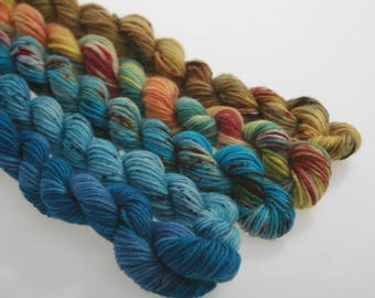 Wool Yarn NEW - Mini Skeins Collection -  'Sails and Sand'