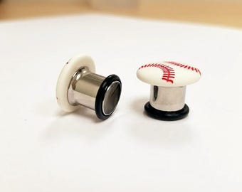 Baseball Plugs - 00g - Ready to ship!