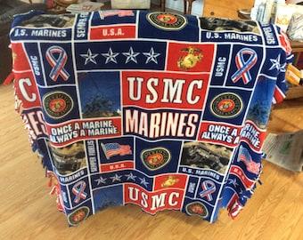 Marines fringed Throw