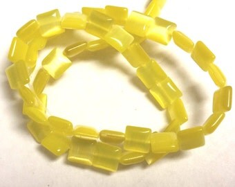 1 strand 50 pieces 8mm cat eye square shape glass beads-7228B