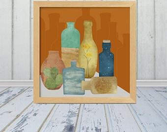 Deconstructed Desert - Bottled Desert - Multiple Sizes Available - Frame Not Included