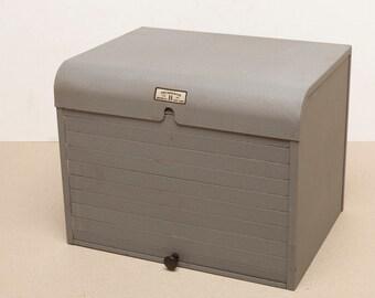 Vintage BRUMBERGER Paper Safe - All Metal with Sliding Door - Home Darkroom
