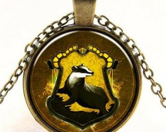 harry potter,Hufflepuff house necklace,