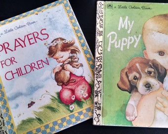 Two Little Golden Books/ Prayers For Children and My Puppy