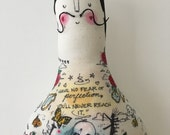 New! Large Salvador Dali - art doll-Tattoo Sleeve- Plush Doll- ready to ship