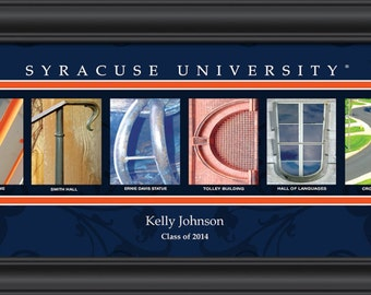 PERSONALIZED & FRAMED NCAA Syracuse Orange Letter Art Sports Prints