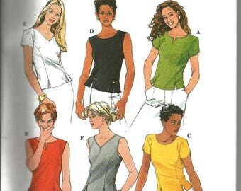 Simplicity 8575 uncut size 18 - 22 variety of classic womens blouses