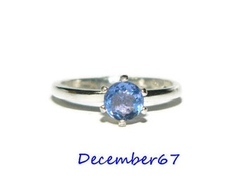 Blue Fluorite Ring, Sterling Silver Ring, Size 5 Ring