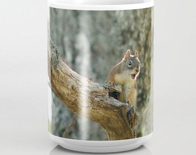 Brown Squirrel, Ceramic Mug, Coffee Mug, Tea Mug, Unique Mugs, Photography, Animal Photography, Nature Photography