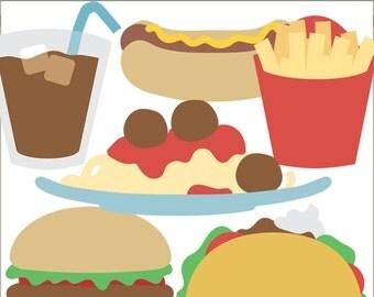 Hamburger clip art | Etsy