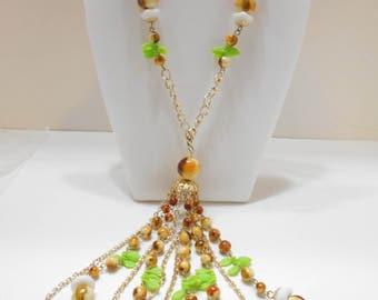 Vintage Dangling Beaded Necklace (1910) Hong Kong