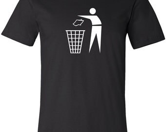 Don't Litter Symbol 100% Cotton Fitted T-Shirt