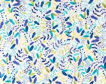 FABRIC-Bright Botanical Fabric by the Yard-Quilt Fabric-Apparel Fabric-Home Decor Fabric-Fat Quarter-Craft Fabric-Fat Quarters