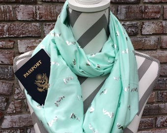 LIMITED EDITION** Mermaid infinity scarf with secret pocket