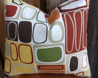 Mod Outdoor Fabric Pillow Cover 18 x 18 throw pillow geometric design