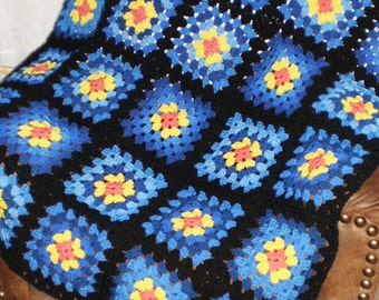 "Made to order -NEW Homemade/Handcrafted  Crochet Granny Square afghan/blanket-50X58""-Choose your own colors"