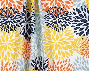 SUMMER SALE! Curtains, Blooms Maya shown, Designer Curtain Panels, Nursery Room Drapes 24W or 50W x 63, 84, 90, 96 or 108L
