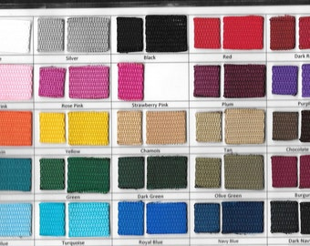 "2yd Roll of NYLON WEBBING, 1"" Wide, Choice of Many Colors, Use for Dog Collars Handbags Straps Backpacks Accessories Purses Belts Suitcases"