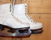 Ice skates Vintage ice skates Soviet ice skates Genuine leather ice skates Vintage girls skates Girls ice skates