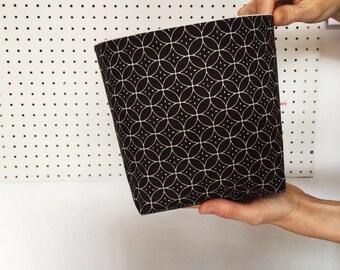 Fabric storage basket - scandi style - charcoal grey storage basket - fabric storage bin - living room storage - desk tidy - new home gift