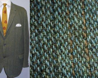 Vintage 1950s Tweed Sport Coat / 46 - 48 / 3/2 Roll / 3 Roll 2 / Sack Jacket / Ivy League / Trad / Prep / 1960s Tweed Sport Coat / Jacket