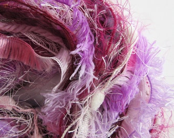 Pink Novelty Yarn Bundle - Art Yarn Bundle - Art and Craft Yarn - Berries 2 - BUY 2 GET 1 FREE
