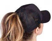 Monogrammed Pony Hat / CC Pony Hat/ Personalized Cap / Beach Hat / Ball Cap /Women's Adult Hat /Gift / Graduation Gift