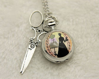 Necklace Pocket watch couture 2222m