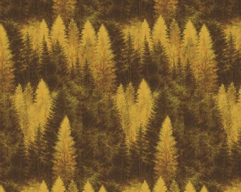Majestic Outdoors Yellow Forest Riley Blake Designs - C 5573