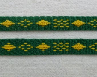 "Pumarella - Handwoven Baltic Pick Up Inkle Trim (3/8"" wide)"