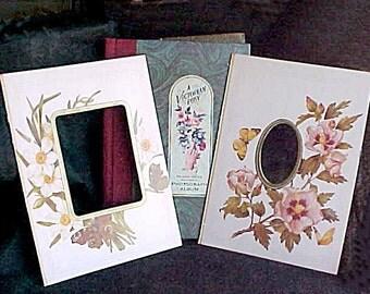 "Scrapbooking Photograph Matting Frames - 11 Victorian Floral Reproduction Designs - 8"" x 11""  Photo Album Mats - Penhaligon"