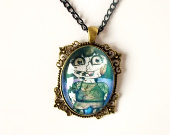 Zombie Girl - Funny Necklace - Zombie - Zombie Apocalypse - Zombie Necklace - Zombie Jewelry - Zombie Virus - Charm Necklace - Ghoul