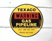 Metal Gas Sign Oil Sign Petroliana Texaco Sign Excellent Man Cave Restaurant Industrial Decor Theme Oil Industrial Sign Warning Caution Sign