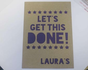 Food Diary / Simple Star Theme / Personalised Papercut Notebook