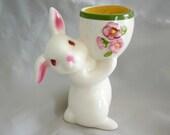 Avon Bunny Rabbit Figurine Votive Candle Holder