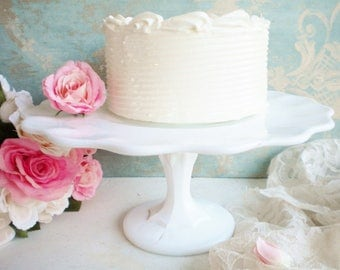 Indiana Mikglass Wedding Cake Stand 11 Inch/Cupcake Stand/Wedding Pedestal Cake Stand/Birthday Cake Stand/Tea Party/Rustic Wedding