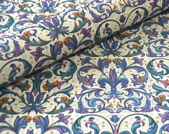 Italian Decorative Paper - Purple Fleur de Lis