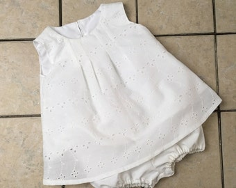 Baby Girl Dress Infant Outfit White Eyelete Dresses Baby Sundress