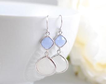 The Millia Earrings - Ice Blue/Opal