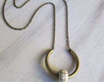 Howlite pendant
