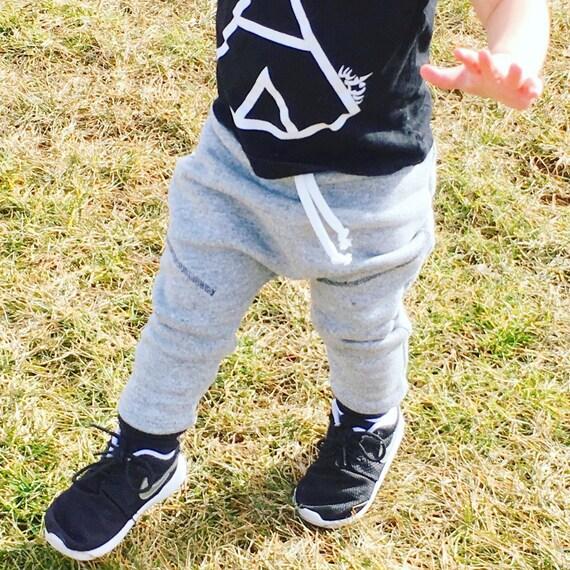 Handmade Hipster Baby Leggings | Baby Harem Pants | Baby Harems | Baby Boy Pants | Baby girl Pants | Hipster Stitch Joggers / Sweat Pants