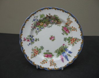 AYNSLEY Bone China WILTON House & Garden LILAC Trim Bread and Butter Plate 7124