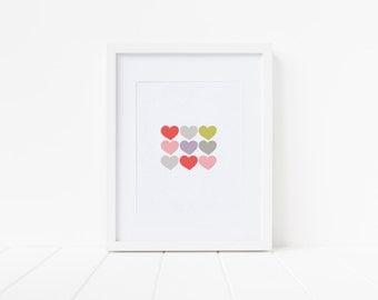 Valentine's heart print!