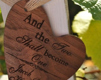 Newlywed Christmas Ornament - And Two Shall Become One- Newlywed Chrsitmas Gift
