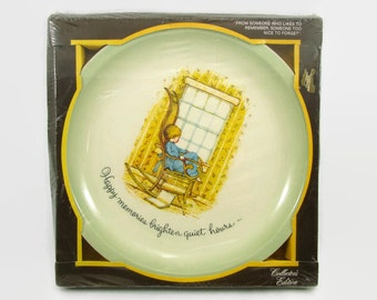 Holly Hobbie Collectors Plate, NIB New in Box American Greeting Collector's Edition Plate